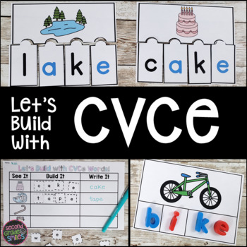 CVCe Word Building Mats, Puzzles, Cut and Paste Printables