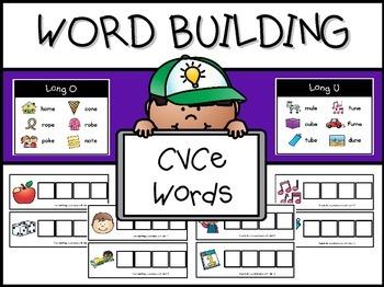 CVCe Word Work Mats