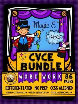 CVCe Word Work No Prep Packets BUNDLE