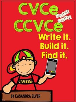 CVCe and CCVCe: Write it. Build it. Find it. (Silent E or Magic E)