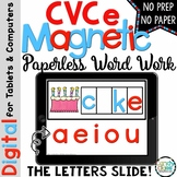 CVCe Digital Word Work Cards - Paperless Phonics Centers f