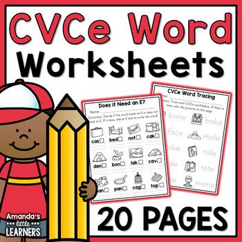CVCe Word Worksheets