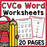 Distance Learning CVCe Word Worksheets