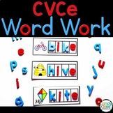 CVCe Word Work Cards: Long Vowel Activities for Magic E Ce