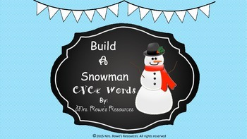 CVCe Words Build A Snowman