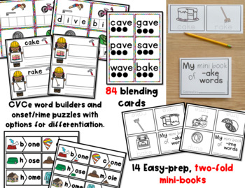 CVCe Words Centers and Activities