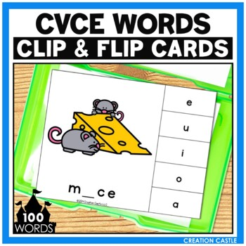CVCe Words Clip Cards Center