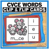 CVCe Words Clip Cards Center
