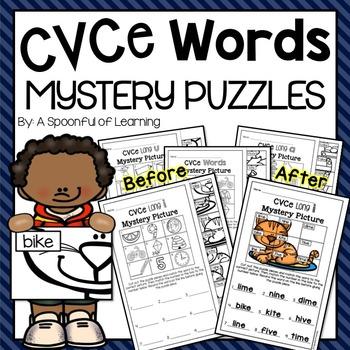 CVCe Words Mystery Puzzles