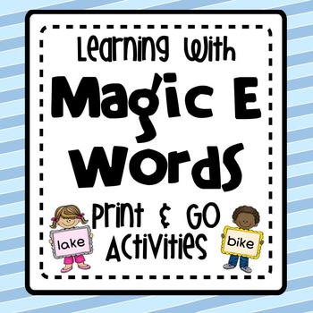 CVCe Words-Print and Go Activities for Magic E Words