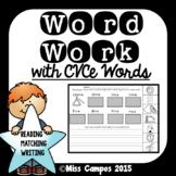 CVCe Words Review - Long Vowel Cut and Paste (magic e)