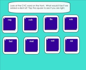 CVCe Words Smartboard Lesson