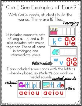 CVCe Digital Word Work - Magic E Paperless Phonics Centers for Google Use