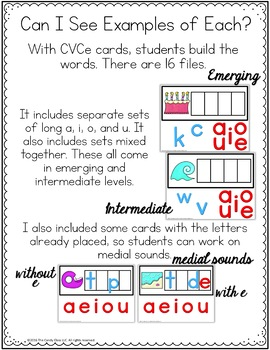 CVCe Digital Word Work: Phonics Centers for Google Classroom Distance Learning