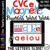 CVCe Digital Word Work - Magic E Paperless Phonics Centers