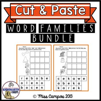 Long Vowels CVCe Words BUNDLE - Sorting Word Families