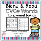Long Vowel Magic E Worksheets (Cut and paste)