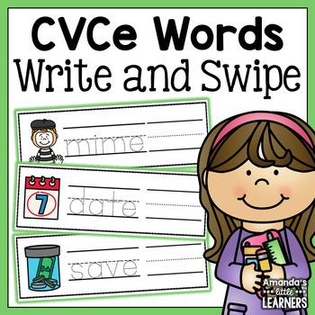 CVCe Dry Erase Activity Cards