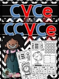 CVCe and CCVCe Word Family Printables (Sound Mapping; Find, Write and Rhyme)