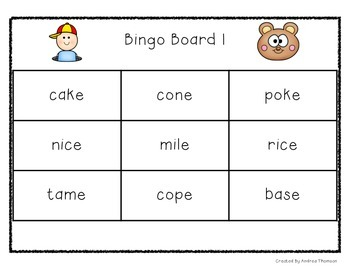 CVCe and CCVCe word games and activities