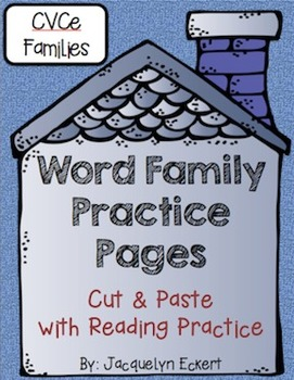 CVCe -ate Family: Word Family Cut, Paste & Read Practice