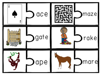 CVCe games, activities, worksheets v_e vce