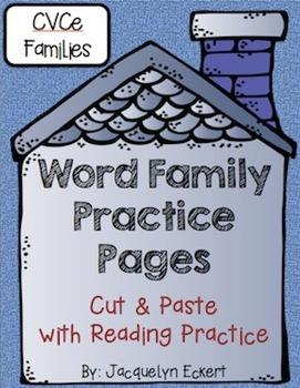 CVCe -ore Family: Word Family Cut, Paste & Read Practice