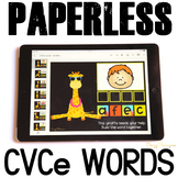 Google Classroom™ Activities Reading CVCe words (giraffes)