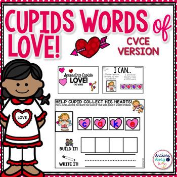 CVCe words - Valentine's Day Themed