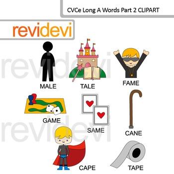 CVCe words clip art long A Part 2