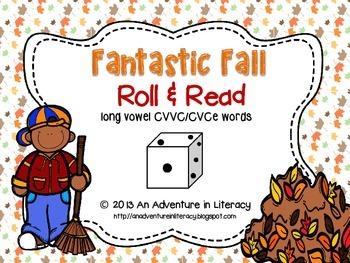 CVCe/CVVC Long Vowel Fantastic Fall Roll & Read