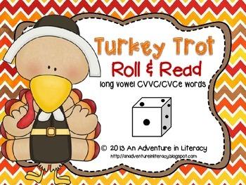 CVCe/CVVC Long Vowel Turkey Trot Roll & Read
