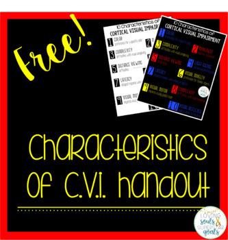 CVI Characteristics Handout