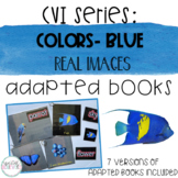 CVI Series Colors Adapted Books   Blue   Real Images