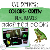 CVI Series Colors Adapted Books   Green   Real Images
