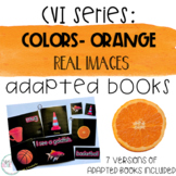 CVI Series Colors Adapted Books   Orange   Real Images