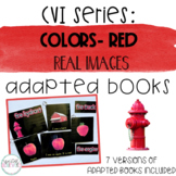 CVI Series Colors Adapted Books   Red   Real Images