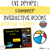 CVI Series: Summer Interactive Book BOOM Cards- DISTANCE LEARNING