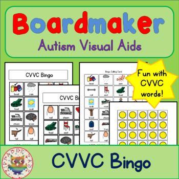 CVVC Bingo - Boardmaker Visual Aids for Autism SPED