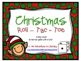 CVVC CVCe Long Vowel Christmas Tic Tac Toe Games