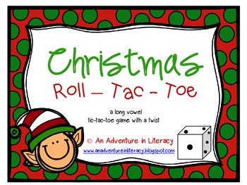 CVVC CVCe Long Vowel Christmas Tic Tac Toe Games