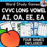 CVVC Long Vowel Teams: AI, OA, EE, EA [[Word Family GAMES!]]