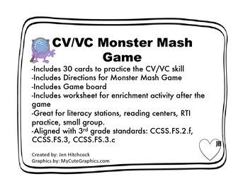CV/VC Monster Mash Game
