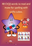 48 CVCK words to read and make for spelling with  unifix cubes.