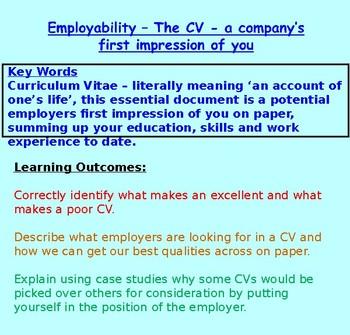 CVs: Employability: Careers