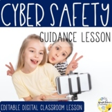 CYBER SAFETY Guidance Lesson Activity & Game + Distance Learning Google Version