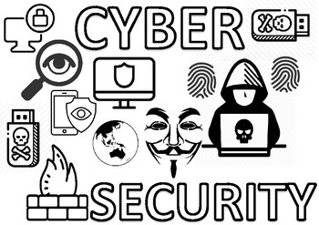 CYBER SECURITY - COLORING POSTER