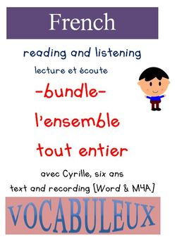 CYRILLE READING AND LISTENING WITH VOCABULEUX:  BUNDLE