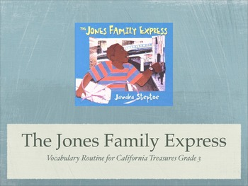 Gr.3 Ca. Treasures: Jones Family Express Vocabulary Routine