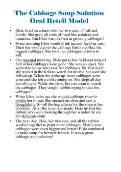 Cabbage Soup Solution - Story Comprehension, Vocabulary, & Retell